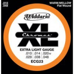 D`ADDARIO ECG23  струны для электрогитары Extra light, хром, 3-я в оплетке, 10-48
